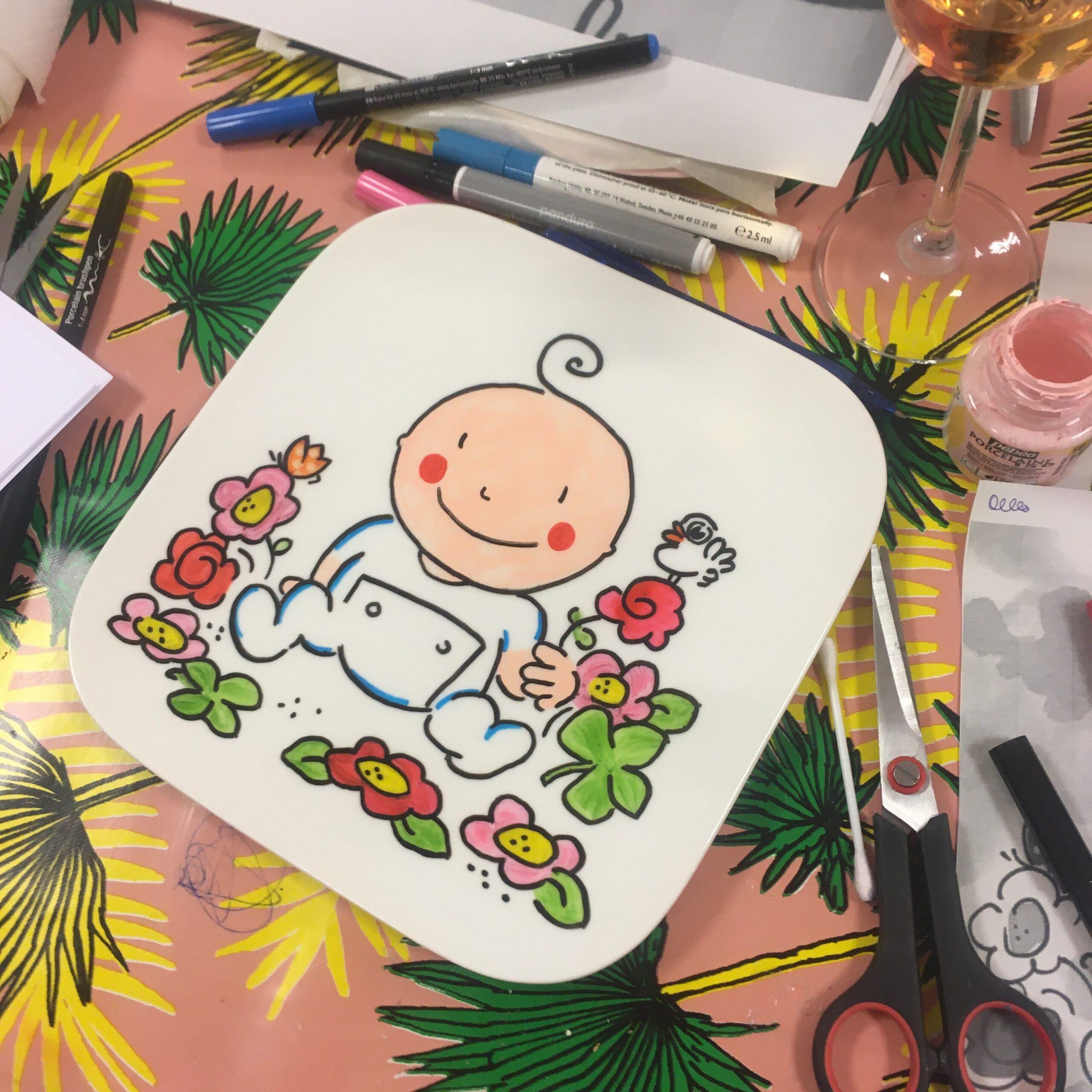 Een servies maken voor de aanstaande mama & baby