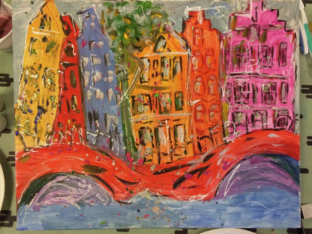 Workshop grachtenpandjes schilderen